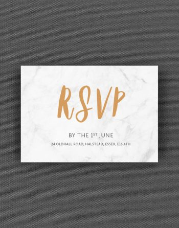 Rockwell RSVP Card on Marble Card