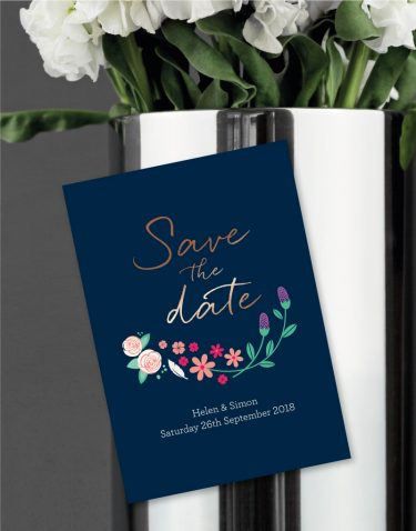 Farndon Magnetic Save the Date Foil Printed in Gold