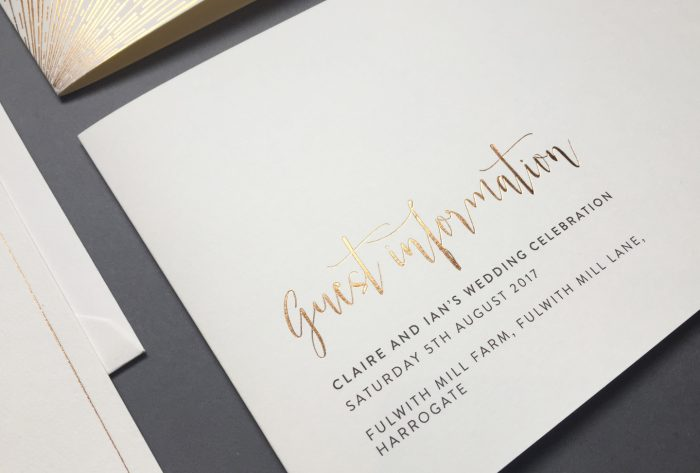 Wedding Guest Information Cards Things to Include - Foil Invite Company Blog