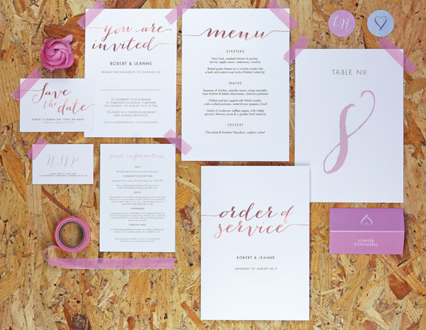 Louise Collection by The Foil Invite Company - A relaxed, handwritten collection. Contemporary but with a friendly warmth.