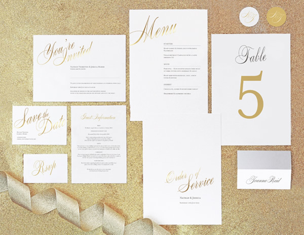 Pemberley Collection by The Foil Invite Company - Hit just the right note of sophistication with this ever-popular range.