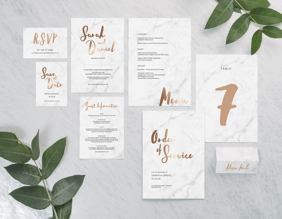 Rockwell Collection by The Foil Invite Company - Rockwell's chic, handwritten style is the perfect choice for a relaxed, fashionable couple.