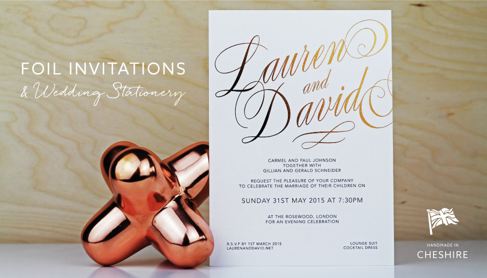 foil wedding stationery uk the foil invite company
