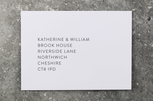 To make it quick and easy for your guests to reply we can supply your RSVP envelopes printed with your address. We will use the font from your RSVP cards for a consistent finish.