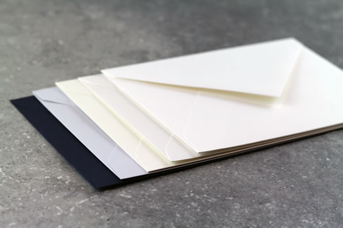 All our envelopes are premium quality with a diamond flap.