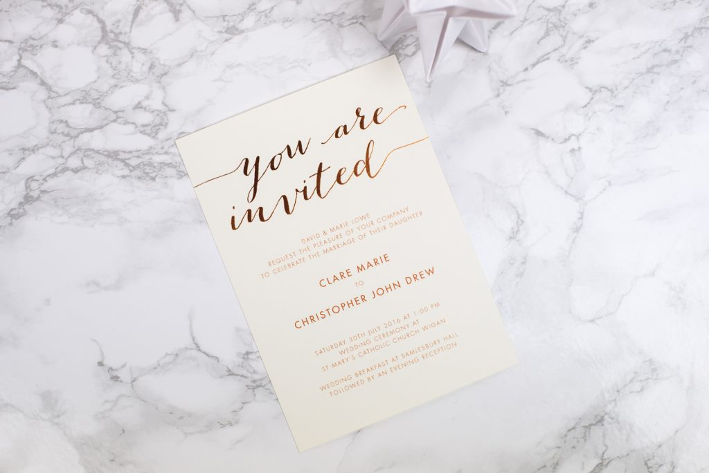gallery the foil invite company With wedding invitations foil pressed uk