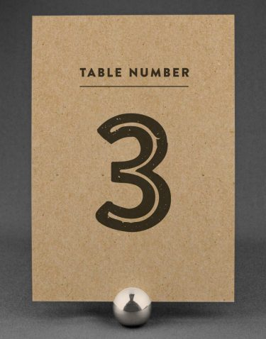 Engravers Wedding Table Numbers