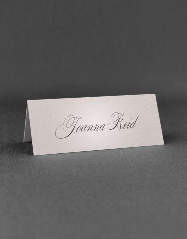Pemberley Wedding Place Cards on Oyster Pearl Card