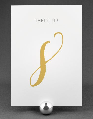 Wedding Table Numbers with Louise Design