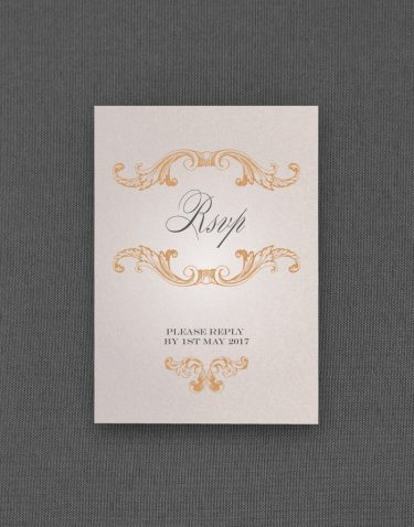 Beaumont RSVP Card in Oyster Pearl