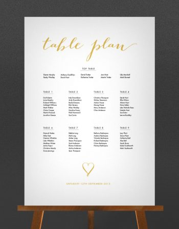 Louise Wedding Table Plan