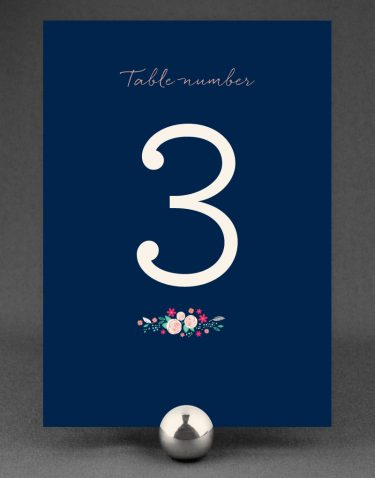 Farndon Wedding Table Number