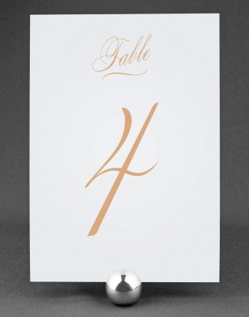 Script Wedding Table Number