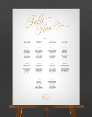 Script Wedding Table Plan