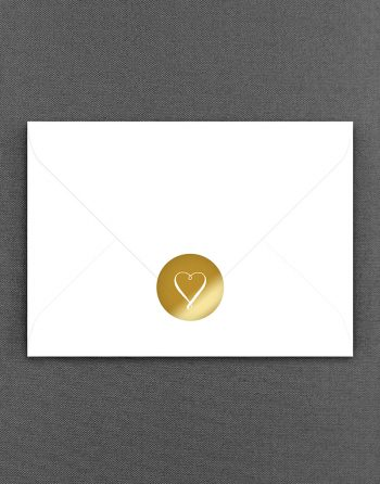 Louise Heart Gold Wedding Sticker