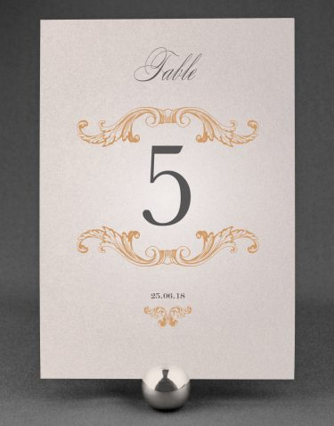 Beaumont Wedding Table Numbers