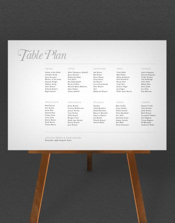 Elegance Wedding Table Plan