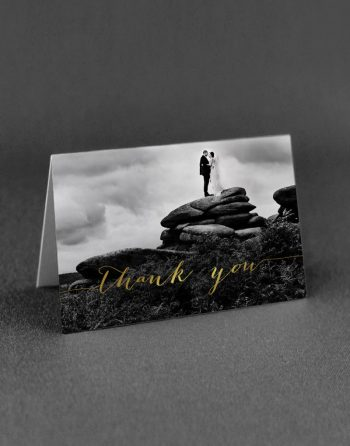 Louise Thank You Card Foil Printed in Gold