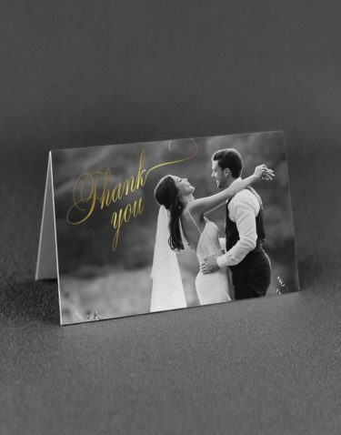 Pemberley Thank You Card Foil Printed in Gold