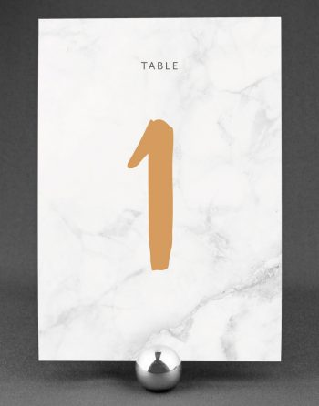 Rockwell Table Number on a Marble Card