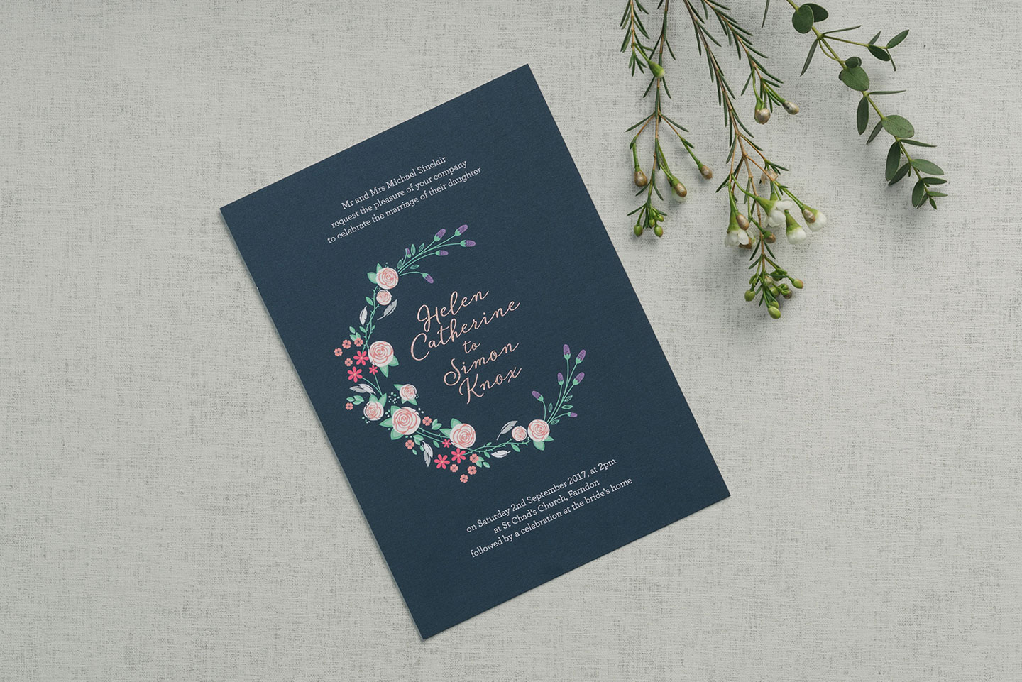 Wedding Invitation Wording Foil Invite Company