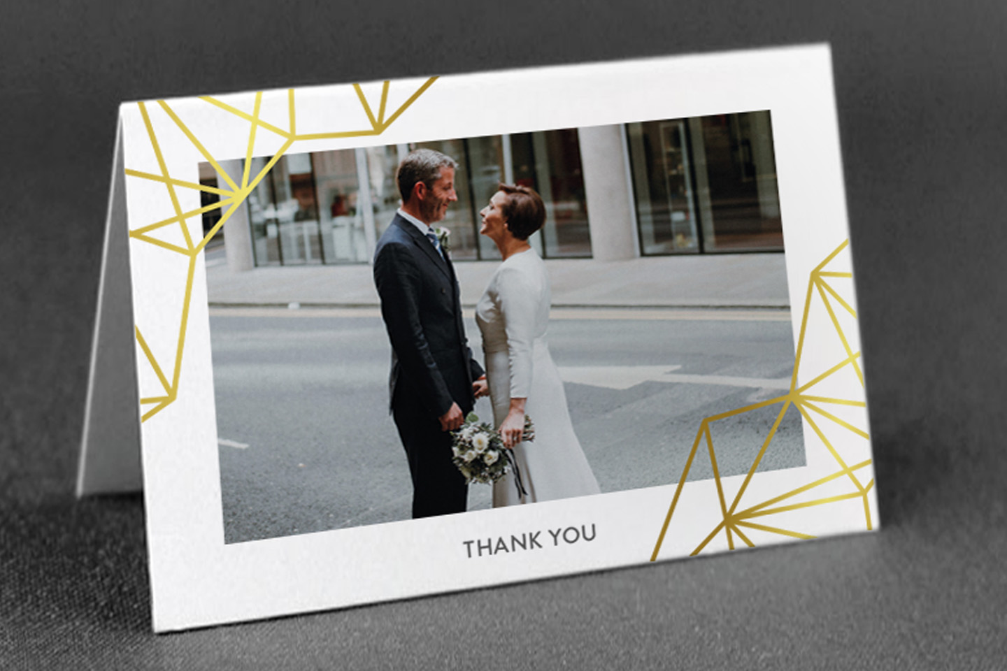 Real Wedding Stories Example Geometric Wedding Stationery Inspiration Foil Invite Blog