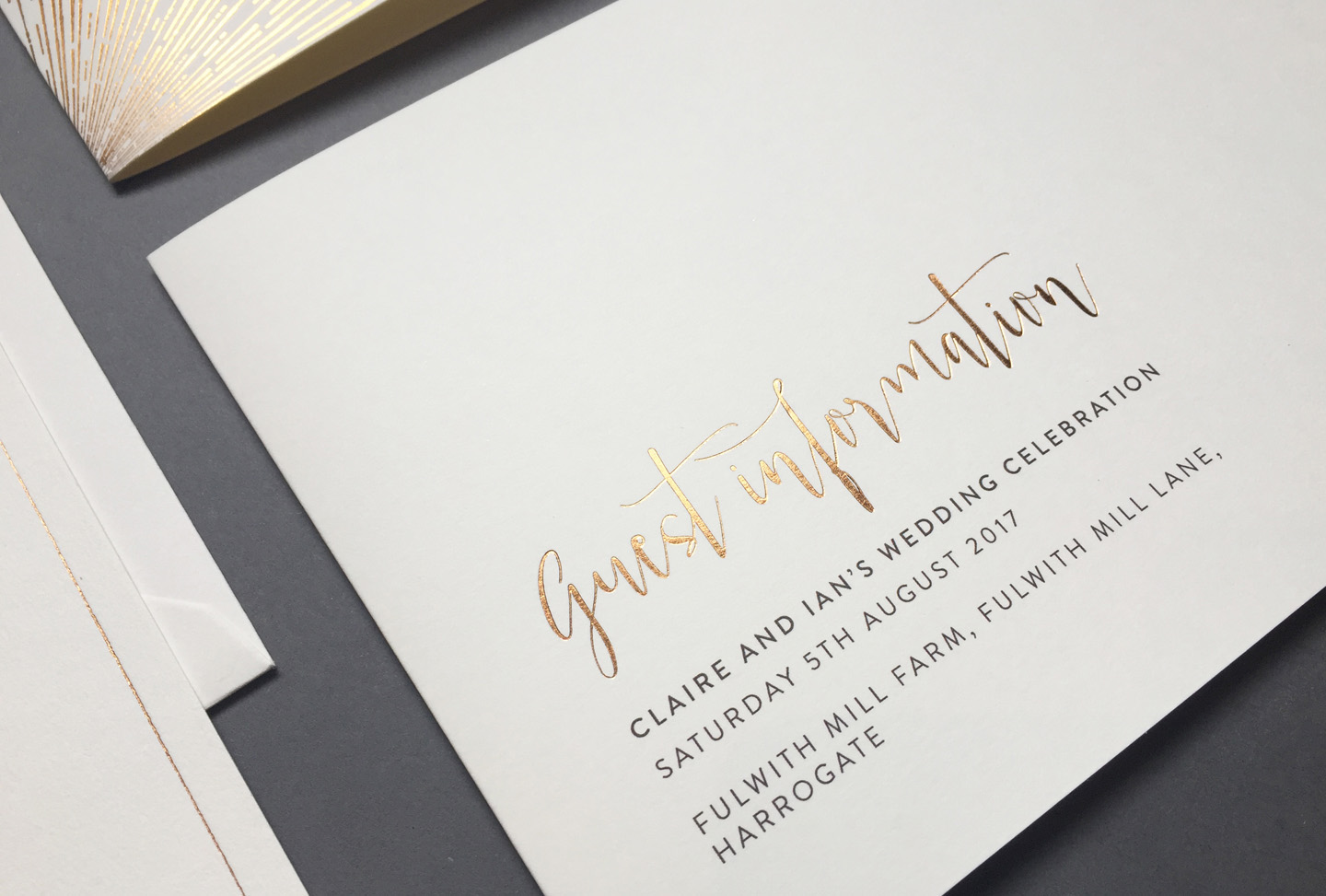 wedding guest information cards