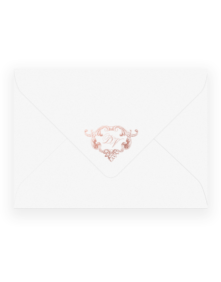 Vintage Foiled Wedding Envelopes - Luxury Wedding Stationery Hand Foil Printed in the UK by The Foil Invite Company