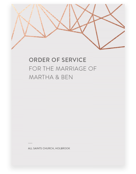 Geometric Wedding Order of Service - Luxury Wedding Stationery by The Foil Invite Company