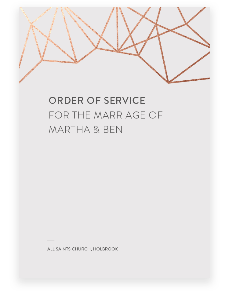 Geometric Order of Service