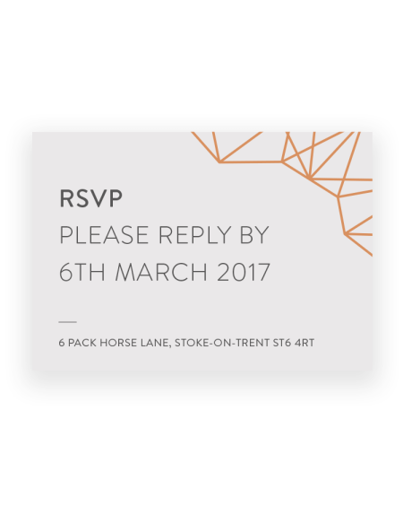 Stylish Geometric Wedding RSVP Cards - Luxury Wedding Stationery by The Foil Invite Company