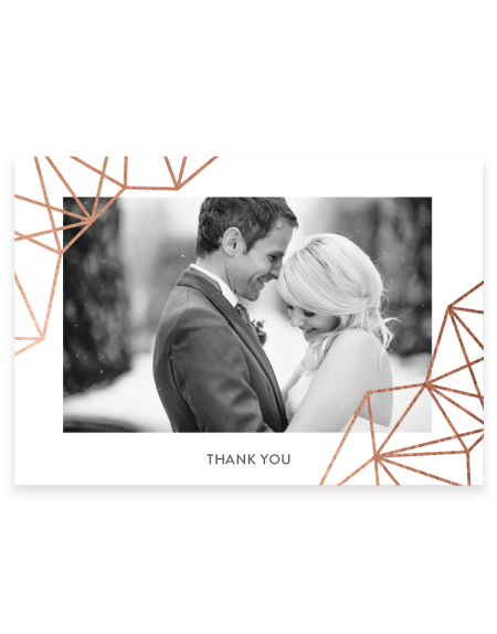 Personalised wedding thank you cards - geometric design - Hand Foil Printed - Foil Invite Company Luxury Stationery