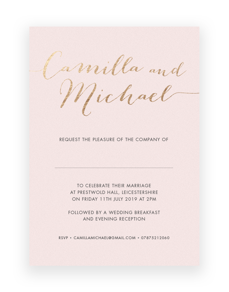 Luxury Wedding Invitations Hand Stamped in Foil and Personalised Stationery - Foil Invite Company