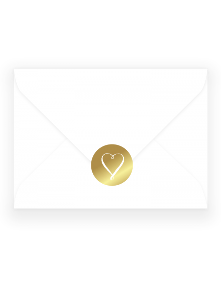 Foil Wedding Stickers - Louise Heart Wedding Envelope Sticker - Luxury Wedding Stationery by The Foil Invite Company