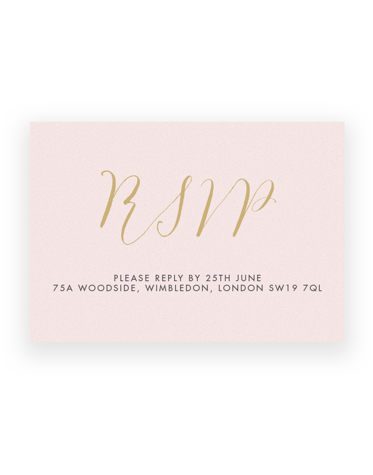 Stylish Script RSVP Cards - Luxury Wedding Stationery by The Foil Invite Company