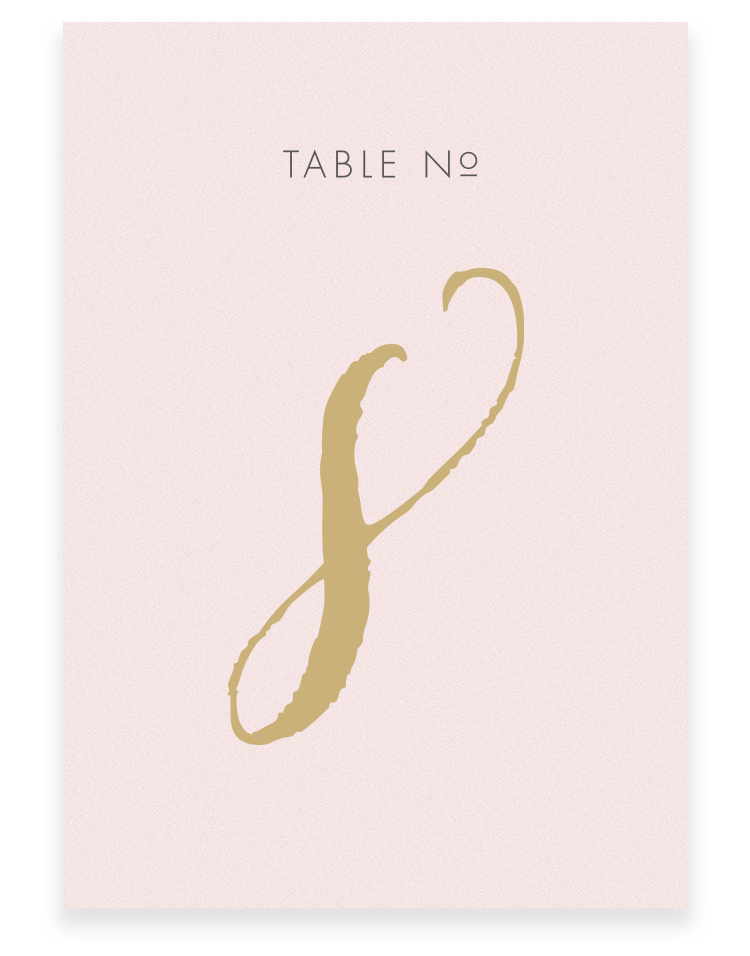 Louise Wedding Table Numbers - Luxury Wedding Stationery by The Foil Invite Company