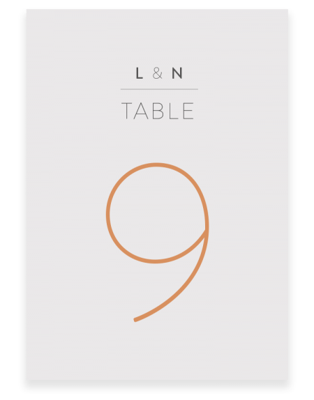 Love Birds Wedding Table Numbers - Luxury Wedding Stationery by The Foil Invite Company