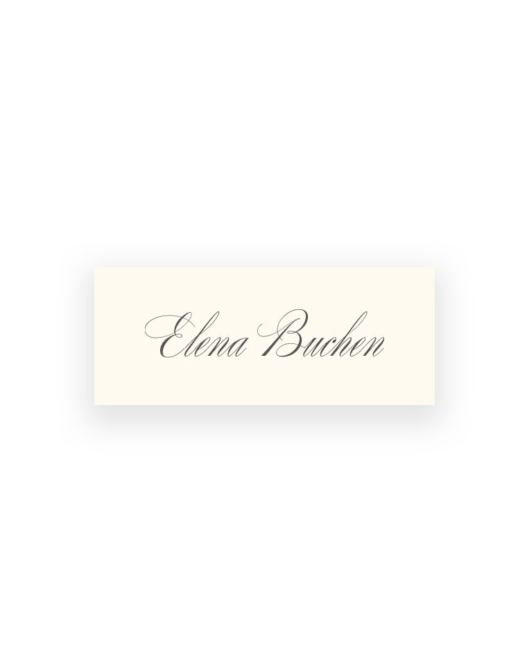 Pemberley Wedding Place Cards - Elegant Wedding Stationery by The Foil Invite Company