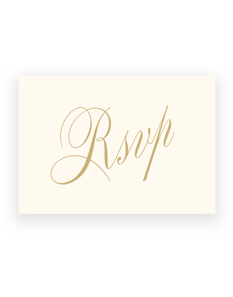 Elegant Pemberley RSVP Cards - Luxury Wedding Stationery by The Foil Invite Company