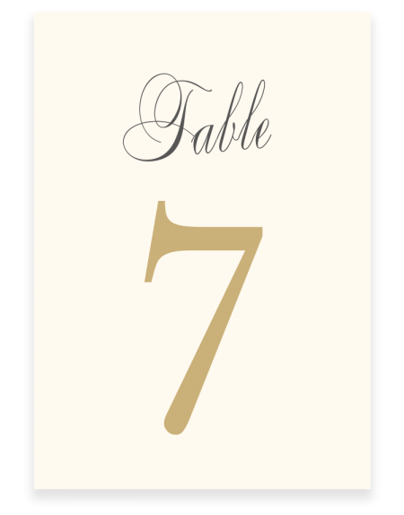 Pemberley Wedding Table Numbers - Luxury Wedding Stationery by The Foil Invite Company