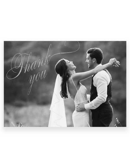 Personalised Wedding Thank You Cards - Photo Hot Foil Pressed by Hand UK - Foil Invite Company Luxury Wedding Stationery