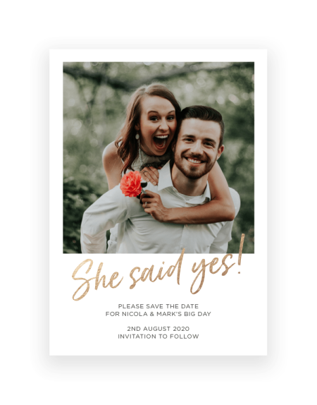 Personalised Save the Date Cards UK | Photographic Cards by the Foil Invite Company