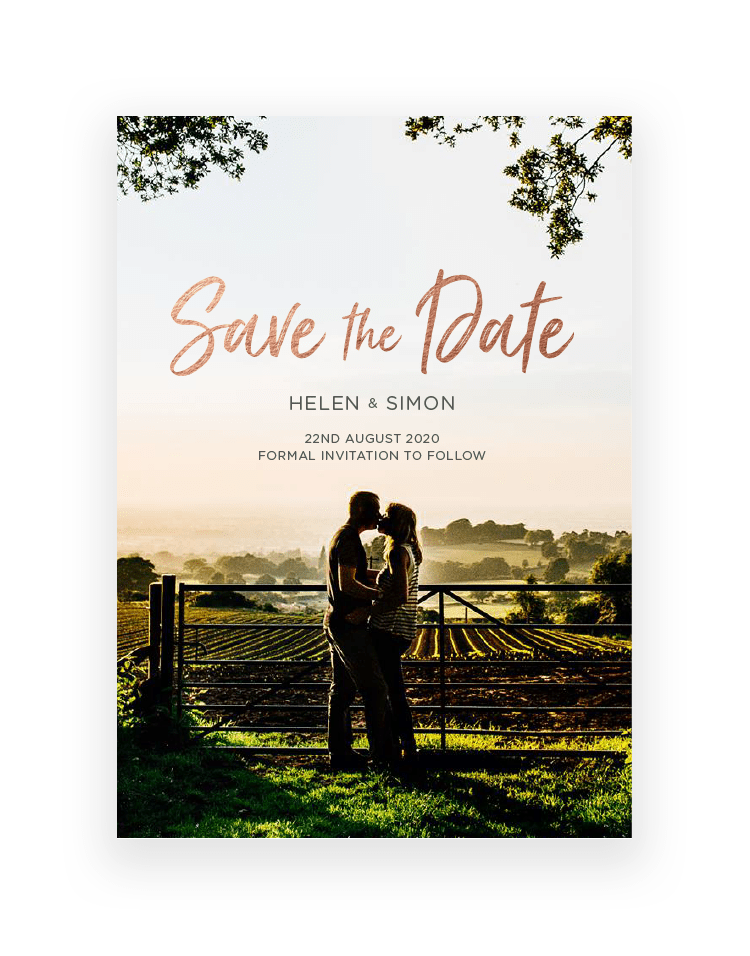 Photographic Save the Date