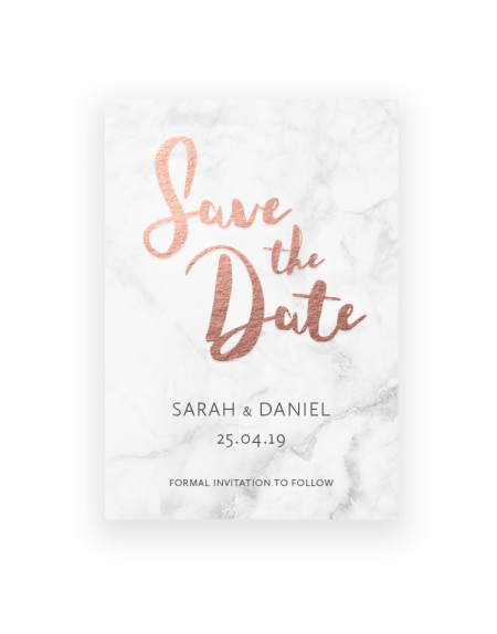 Elegant Save the Date Cards and Magnets - The Foil Invite Company Luxury Wedding Stationery