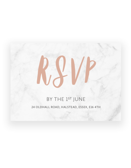 Rockwell Wedding RSVP Cards - Luxury Wedding Stationery by The Foil Invite Company