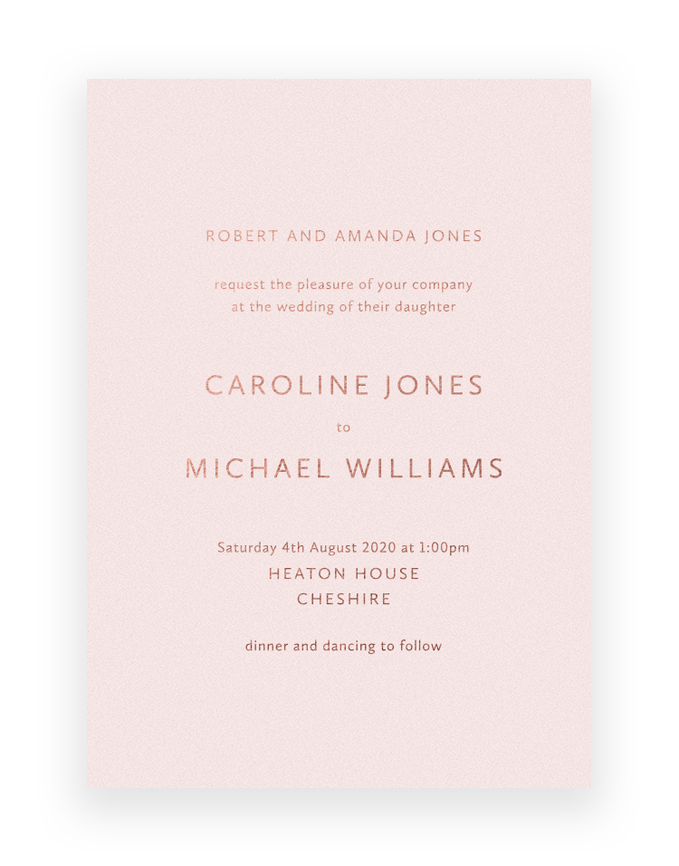 Simple but elegant wedding invitations - Sarto Sans Design by The Foil Invite Company - Luxury Wedding Stationer