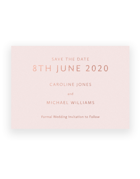 Modern Save the Date Cards and Magnets - Sarto Sans Font Design by Foil Invite Company - Luxury Wedding Stationery