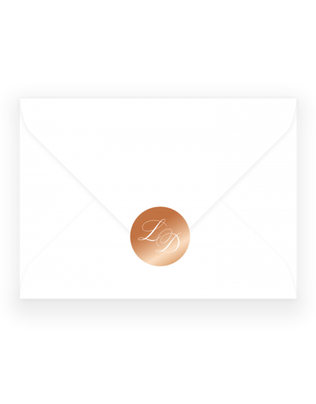 £0 customise colours · personalised wedding stickers script wedding envelope sticker by the foil invite company luxury wedding