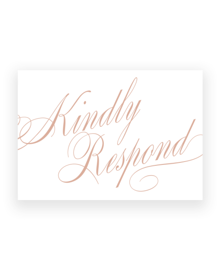 Stylish Script Wedding RSVP Cards - Luxury Wedding Stationery by The Foil Invite Company