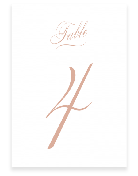 Script Wedding Table Numbers - Luxury Wedding Stationery by The Foil Invite Company